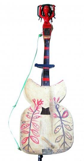 Mami Wata Ceremonial Guitar - Carved Woold.