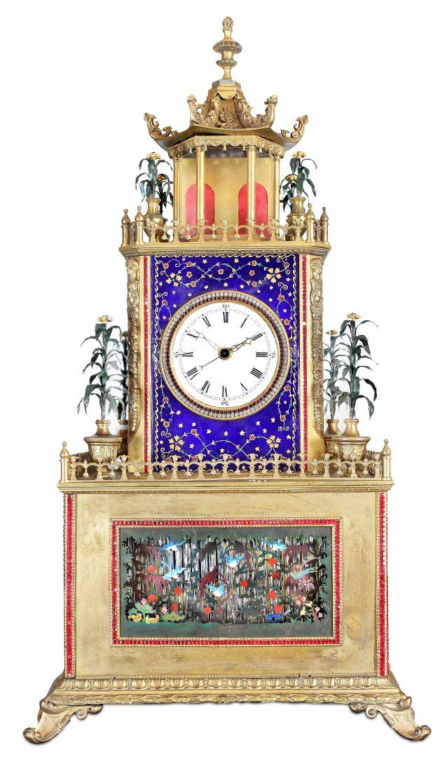 AUTOMATON MUSICAL CLOCK MADE FOR THE CHINESE MARKET