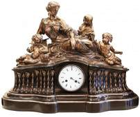 FINE AND LARGE FRENCH LATE 19TH CENTURY MANTEL CLOCK