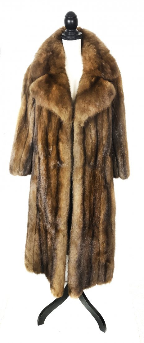 "SABLE FUR COAT "" ROYAL CROWN"""