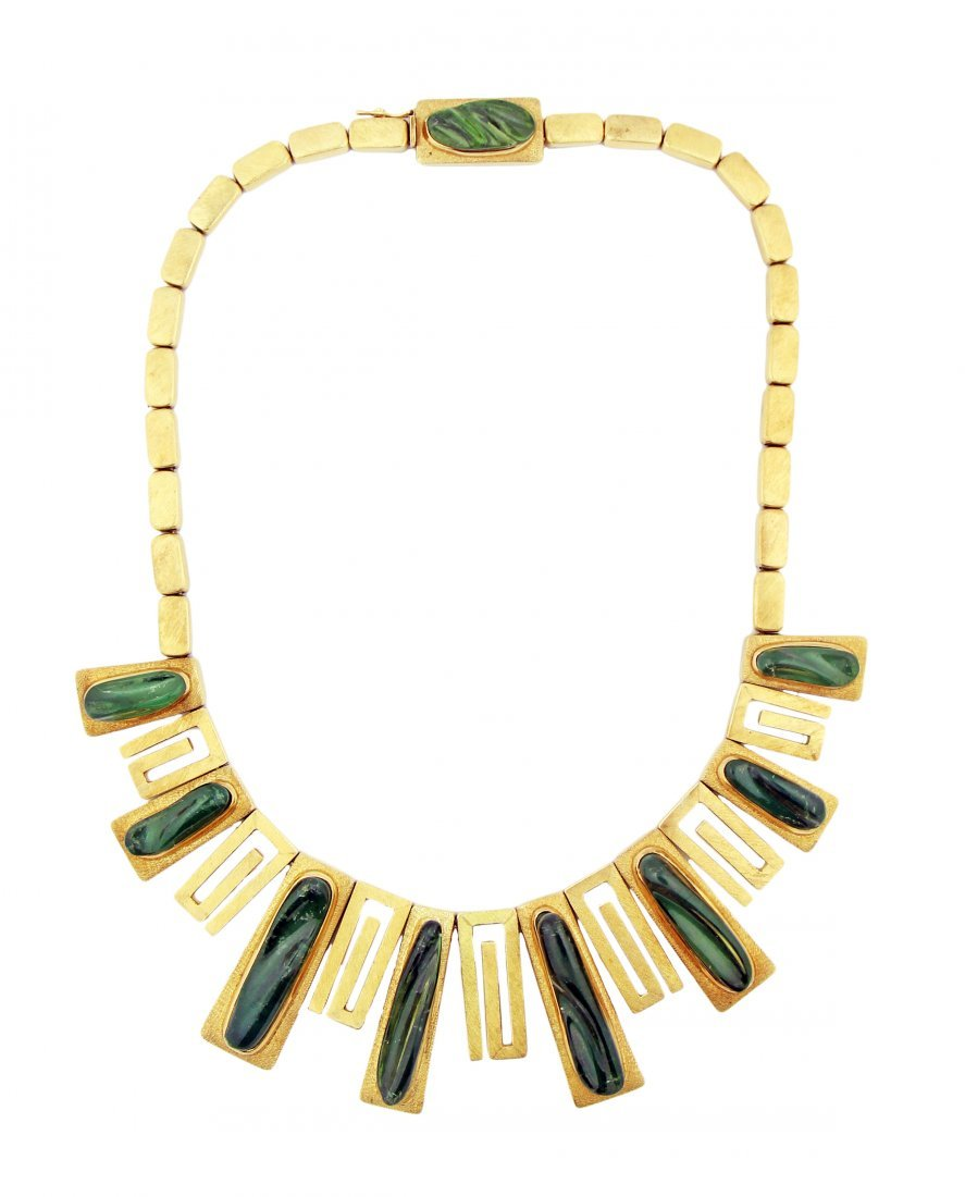 A FINE TOURMALINE NECKLACE BY BURLE AND BRAS