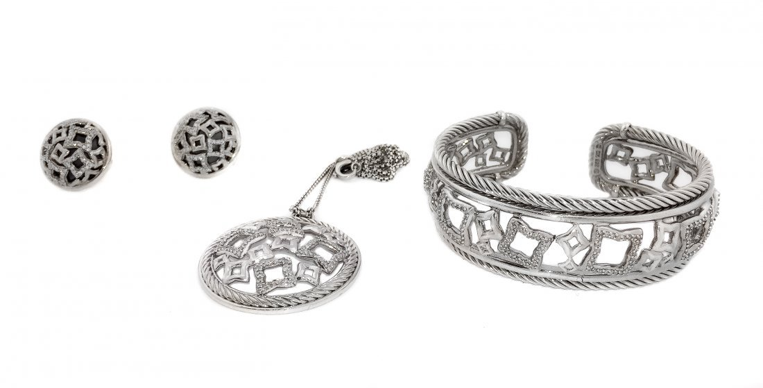GROUP OF STERLING SILVER JEWELRY,DAVID YURMAN