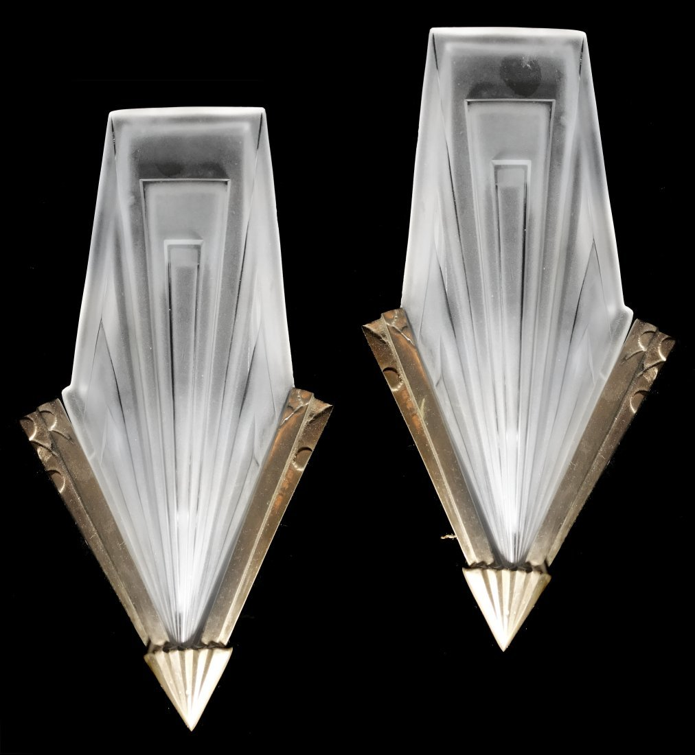 COMPIEGNE,PAIR OF WALL SCONCES, FRANCE circa 1920