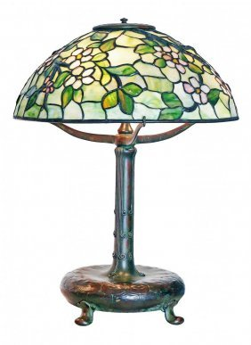 "Tiffany Studios (1899-1920) ""apple Blossom"" Table Lamp"