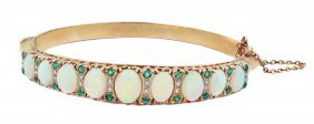 Diamond And Opal Bracelet