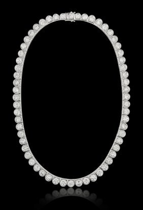 Very Fine White Gold Diamond Necklace