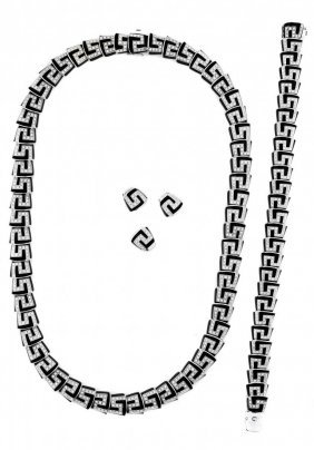 Roberto Coin Diamond And Onyx Demi-parure