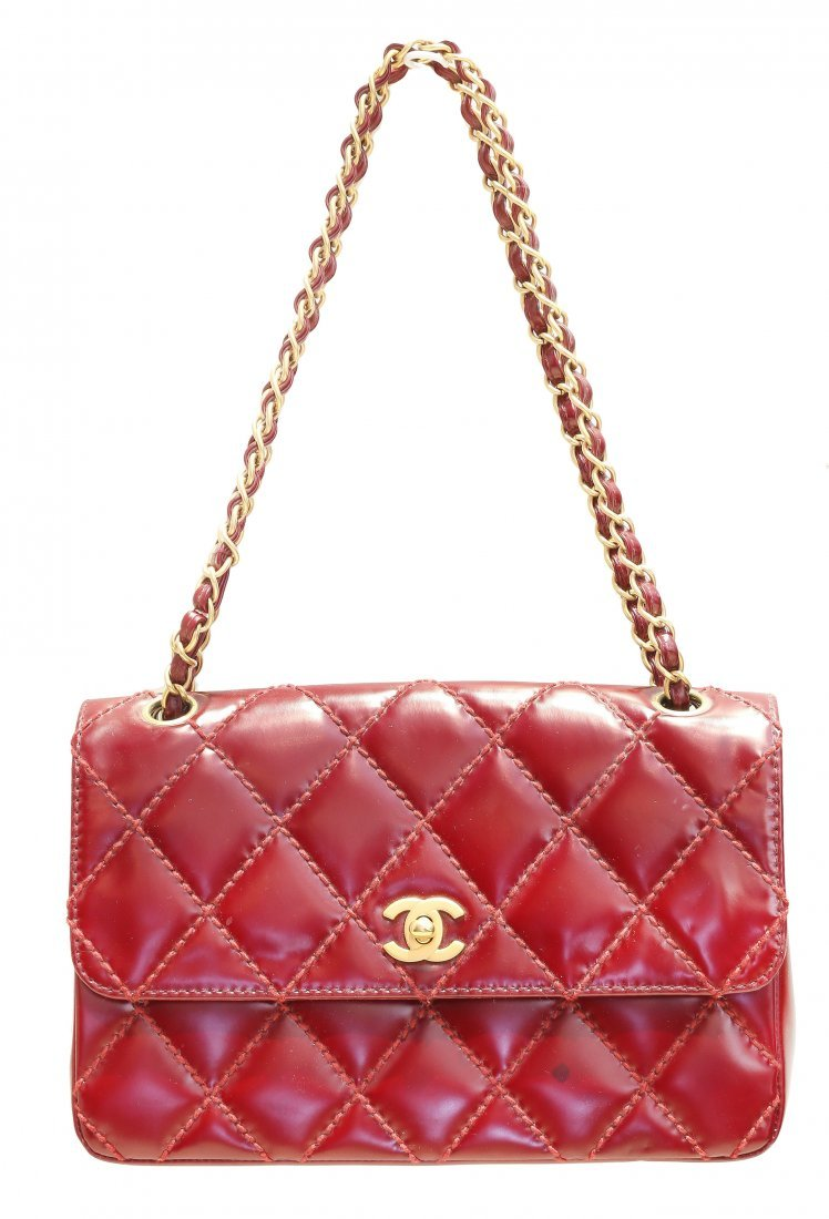 CHANEL , RED LEATHER
