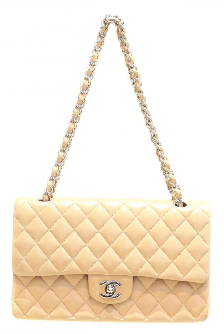 CHANEL, BEIGE LEATHER