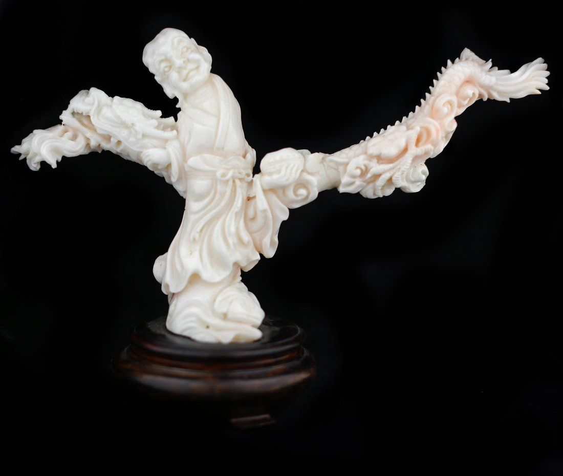 FINE CORAL CARVING, CHINESE