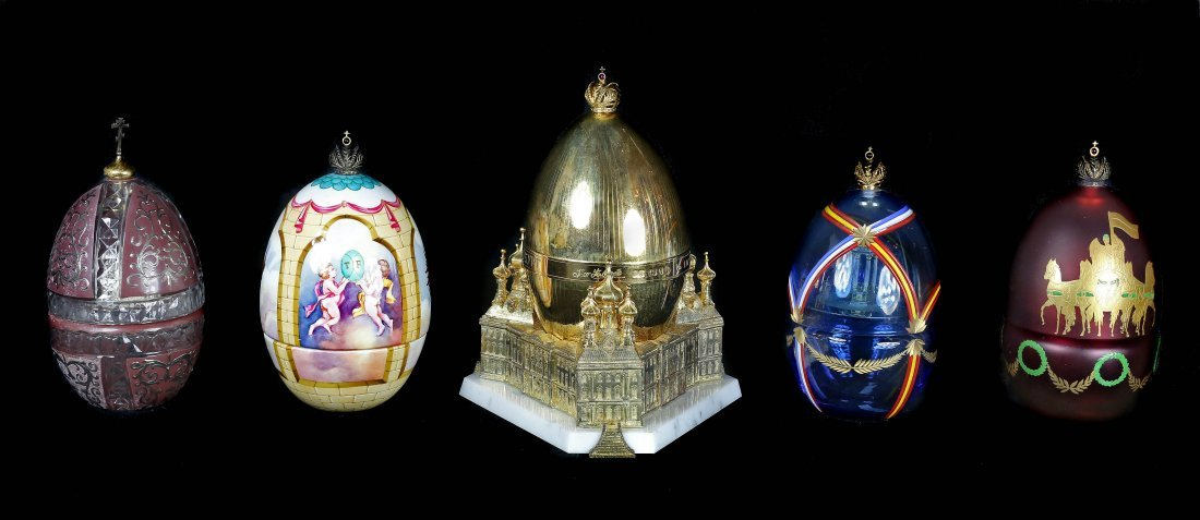 "THEO FABERGE FIVE ""EGGS"" ST PETERSBURGH COLLECTION"