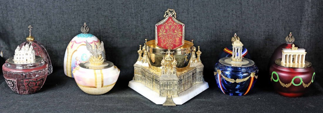 "THEO FABERGE FIVE ""EGGS"" ST PETERSBURGH COLLECTION - 2"