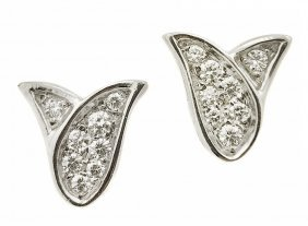 GRAFF, PLATINUM AND DIAMOND EARRINGS