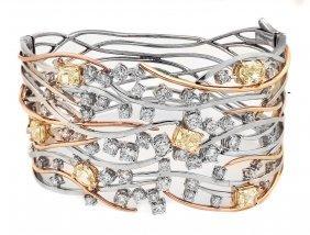 YELLOW DIAMOND AND DIAMOND BRACELET