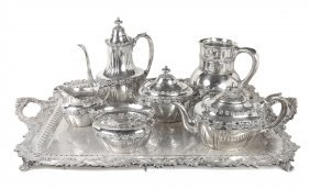 TIFFANY & CO. EXHIBITION CHICAGO 1893 SILVER TEA SET