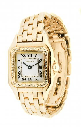 CARTIER, A LADY'S WRISTWATCH WITH BRACELET PANTHÉRE