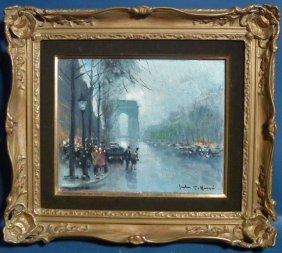 "Jules Rene Herve (France 1887-1981) ""L'Arc De Triomp"