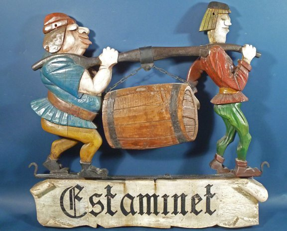 4: Vintage Folk Art Trade Sign France ca 1930