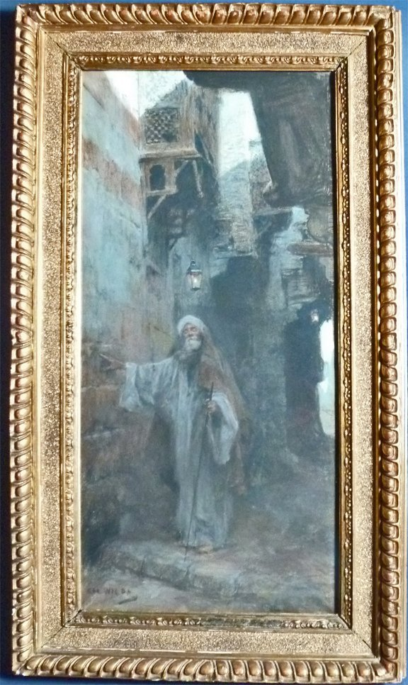 "9: Charles Wilda (Austria 1854-1907) ""The Blind Arab"" O"