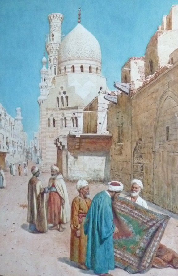 "10: Enrico Terenghi (Italian 1848-1938) ""The Carpet Mer"