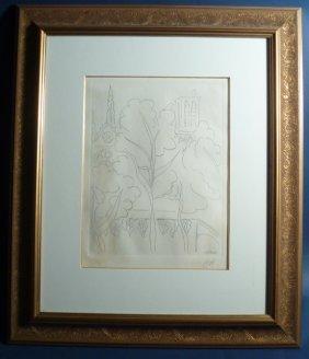 """Henri Matisse (France 1869-1954) Etching """"Paris Not"""