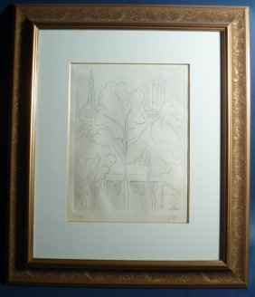 "15: Henri Matisse (France 1869-1954) Etching ""Paris Not"