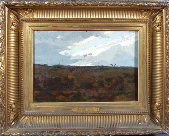 "16: Alexandre Sege (France 1818-1885) ""Paysage"" Oil on"