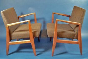 21: Pair of Jens Risom mid century chairs