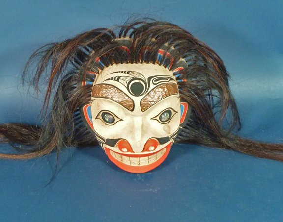 23: Paul Johnny Northwest coast Carved Mask