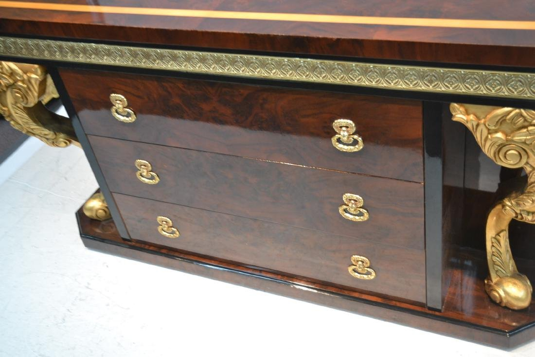 3-DRAWER LACQUERED SIDEBOARD WITH GILT CARVED - 4