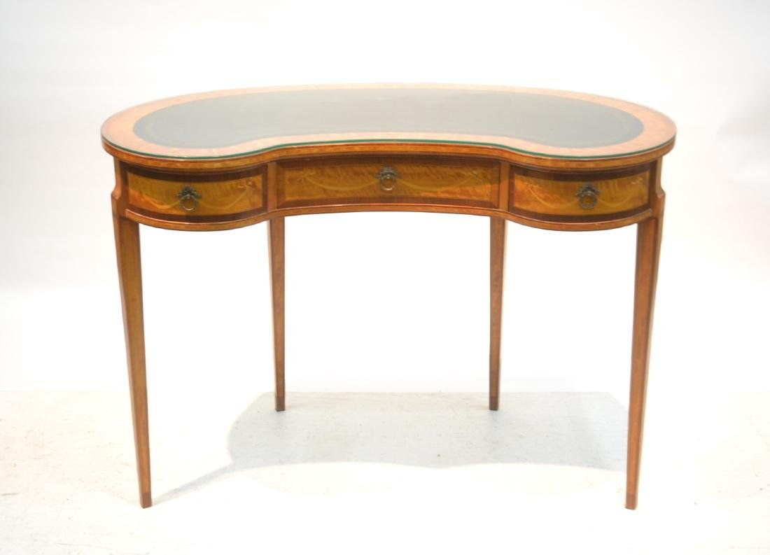 INLAID FRENCH STYLE KIDNEY SHAPE DESK - VANITY