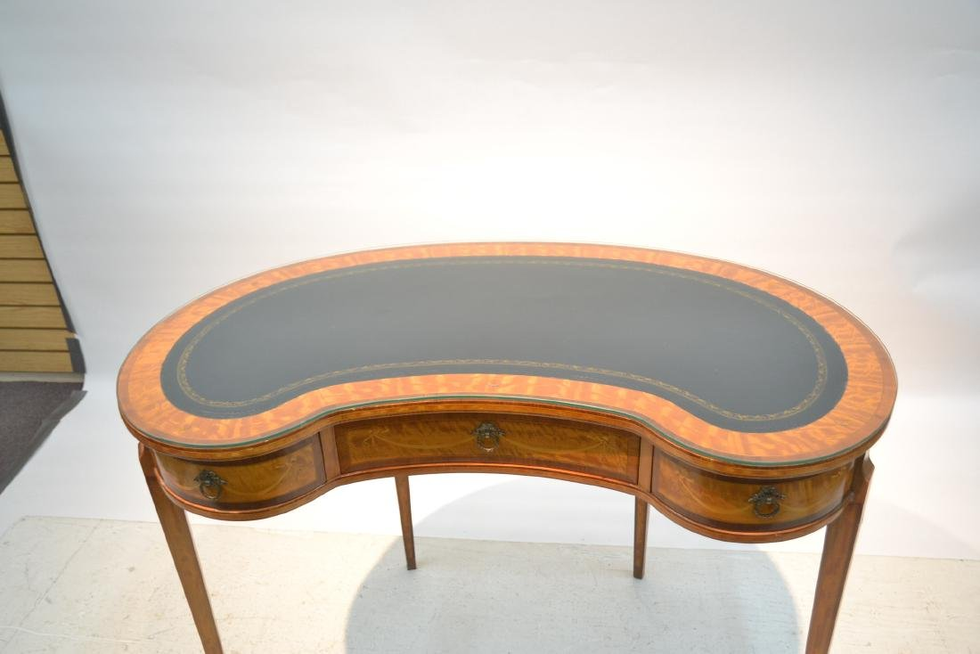 INLAID FRENCH STYLE KIDNEY SHAPE DESK - VANITY - 3