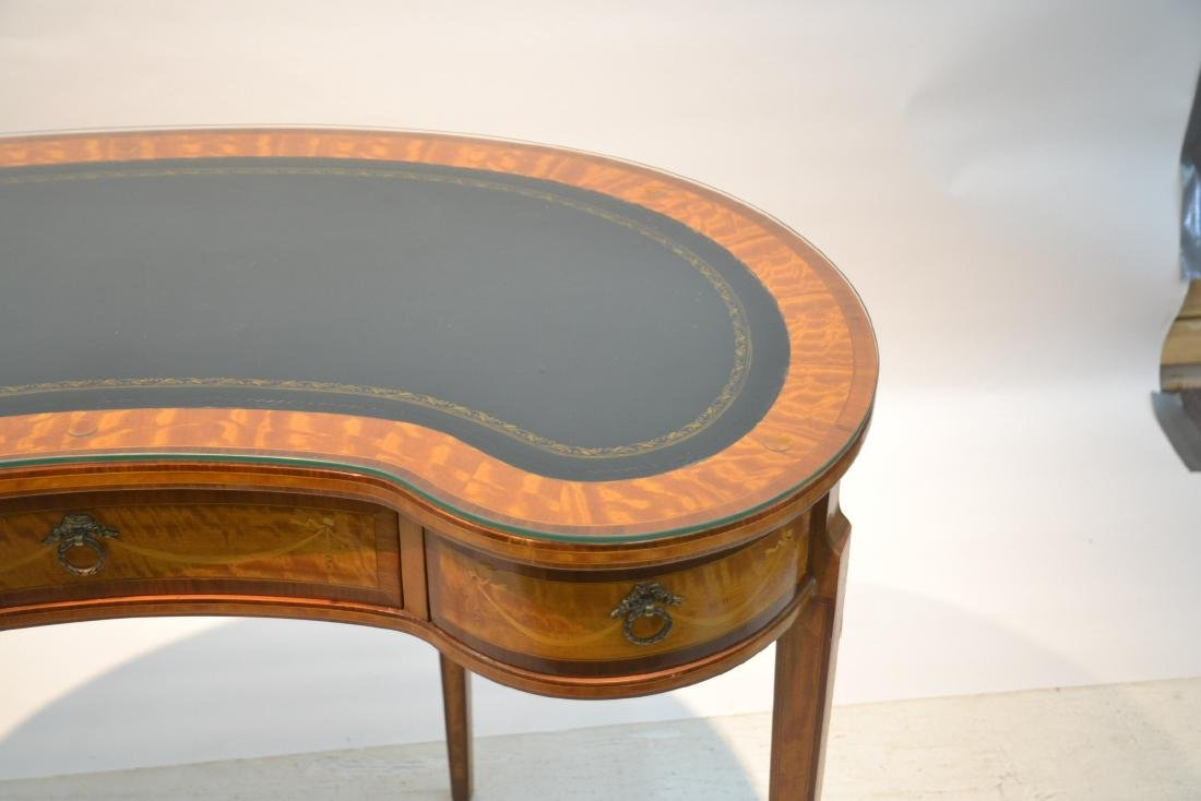 INLAID FRENCH STYLE KIDNEY SHAPE DESK - VANITY - 4