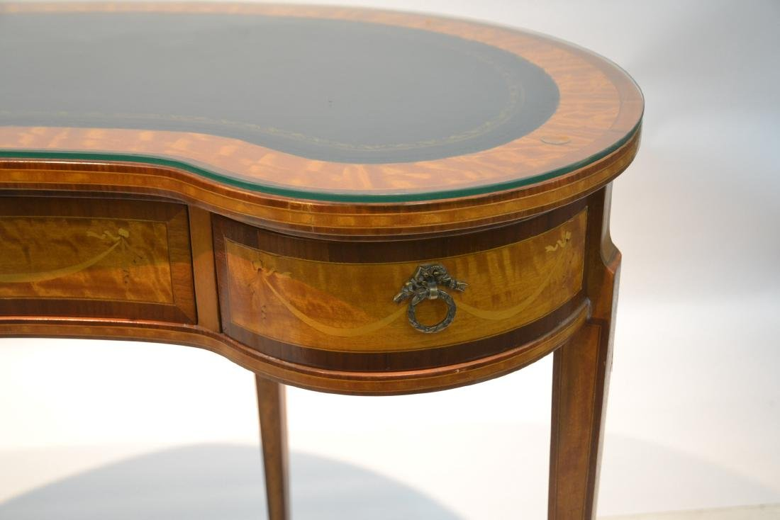 INLAID FRENCH STYLE KIDNEY SHAPE DESK - VANITY - 5