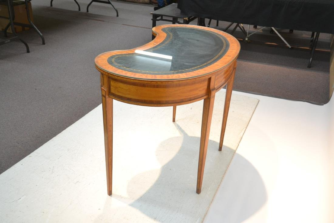 INLAID FRENCH STYLE KIDNEY SHAPE DESK - VANITY - 6