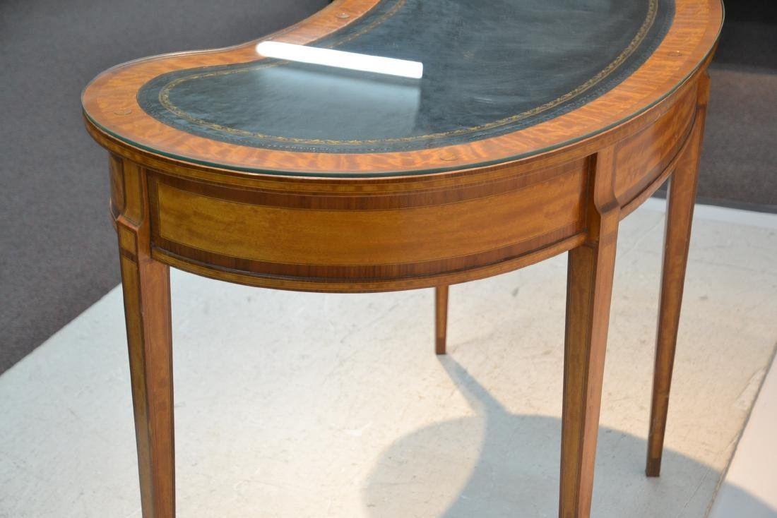 INLAID FRENCH STYLE KIDNEY SHAPE DESK - VANITY - 7