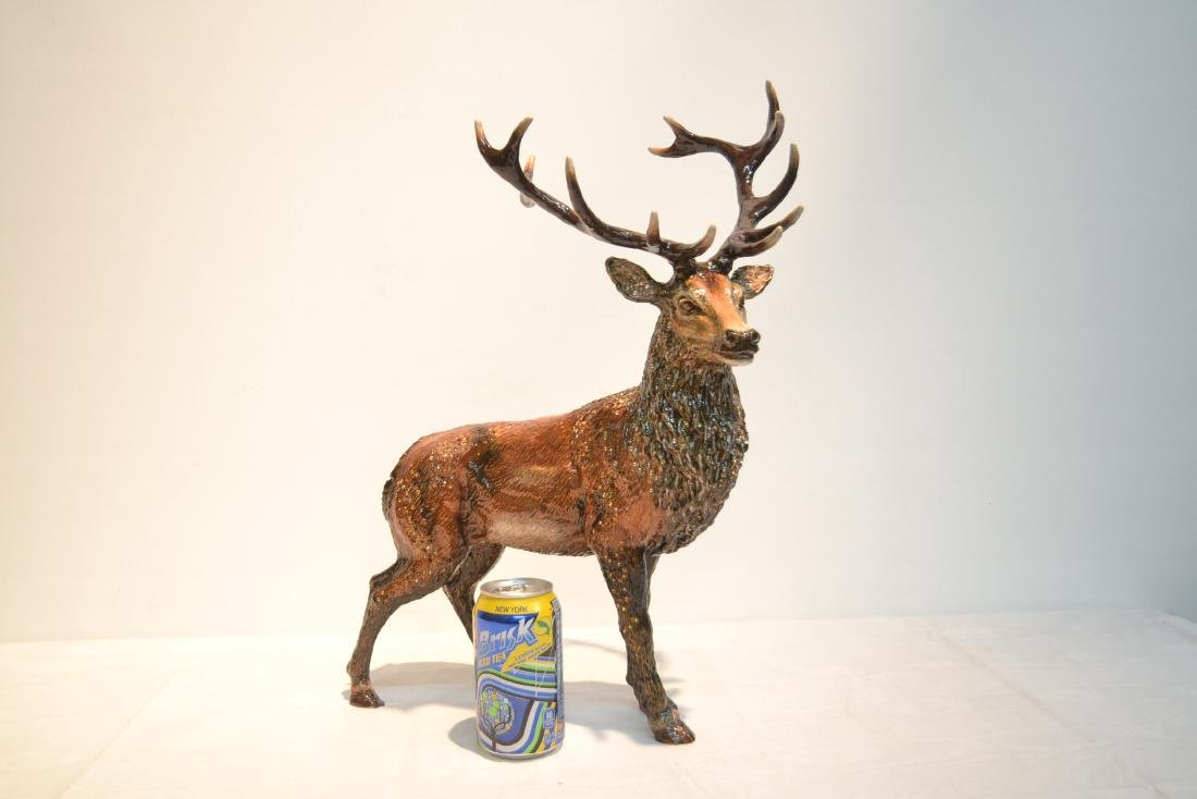 LARGE JAY STRONGWATER , ENAMELED HIGHLAND STAG - 3
