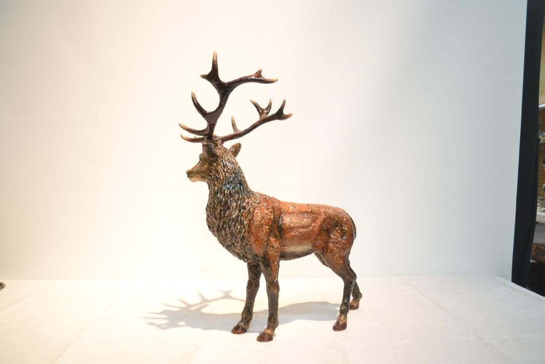 LARGE JAY STRONGWATER , ENAMELED HIGHLAND STAG - 6