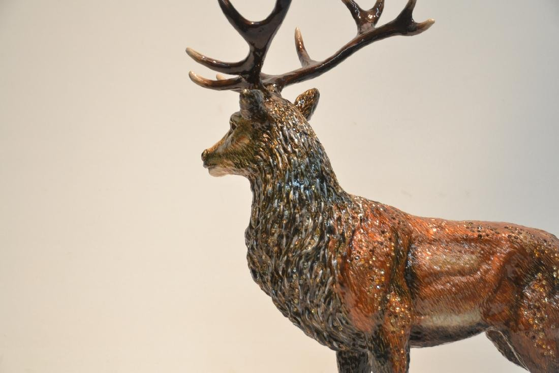 LARGE JAY STRONGWATER , ENAMELED HIGHLAND STAG - 7