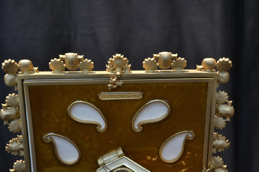 JAY STRONGWATER YOLANDA GOLD PEARL ENAMELED - 6