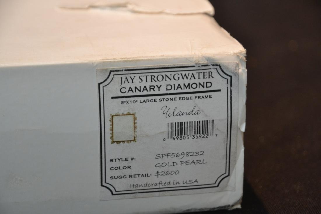 JAY STRONGWATER YOLANDA GOLD PEARL ENAMELED - 7