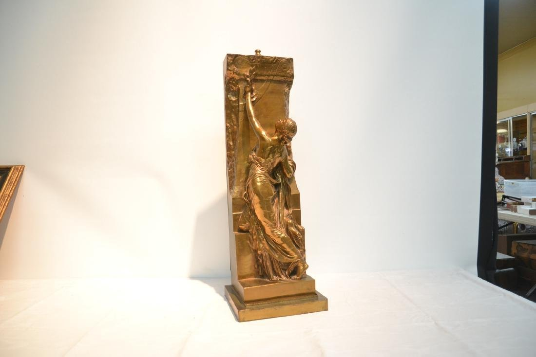 BARBEDIENNE BRONZE WOMAN LEANING ON WALL - 2