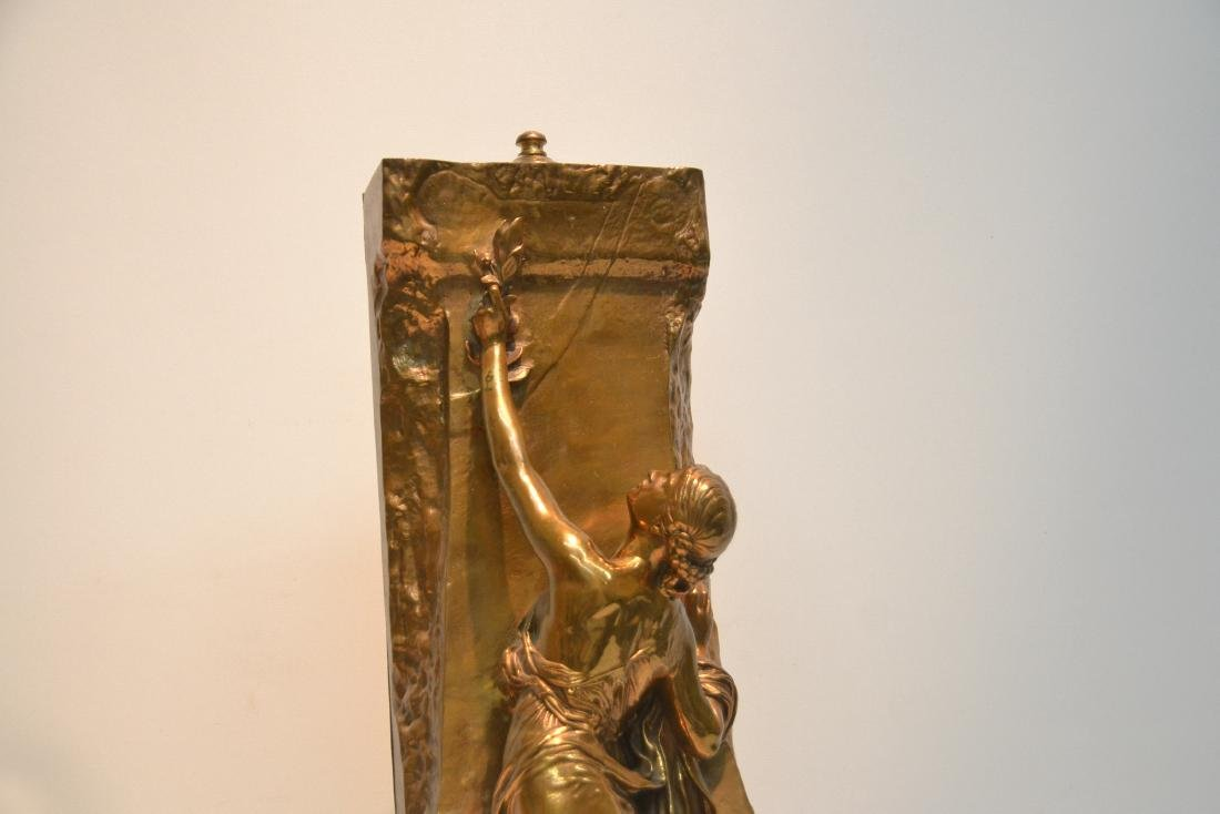 BARBEDIENNE BRONZE WOMAN LEANING ON WALL - 3
