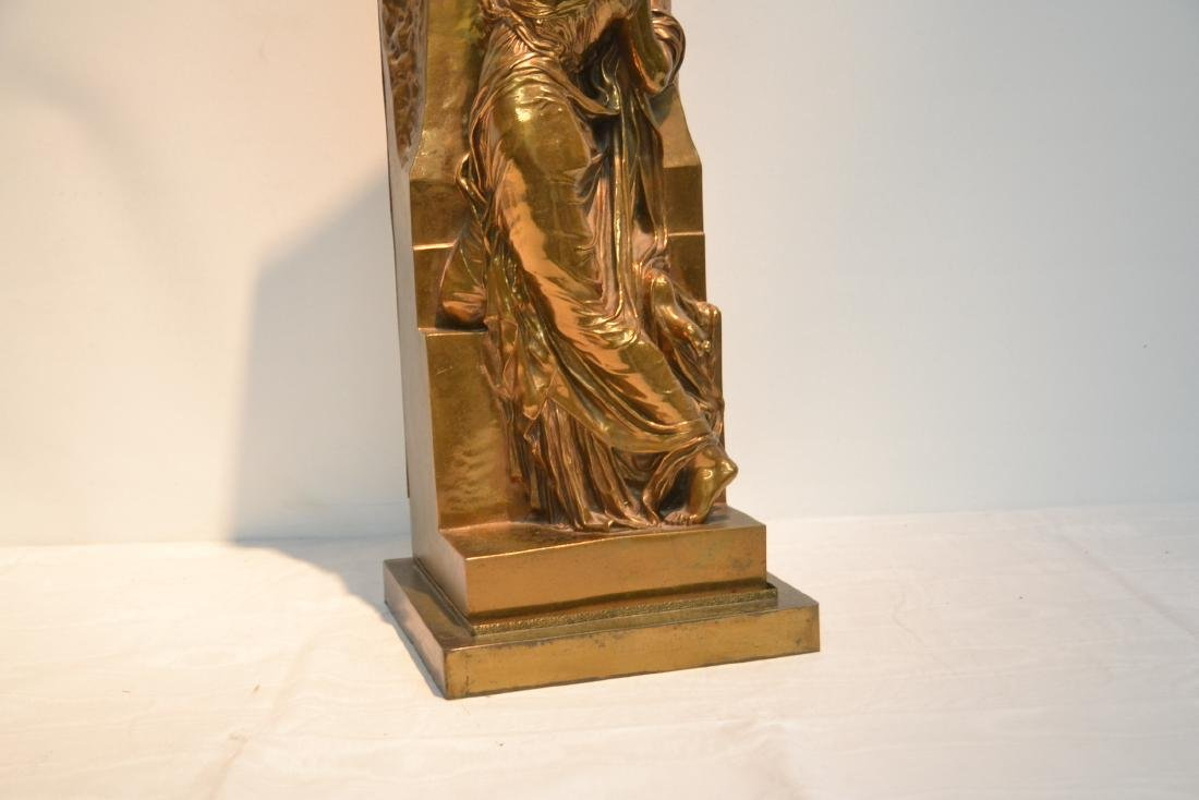 BARBEDIENNE BRONZE WOMAN LEANING ON WALL - 4