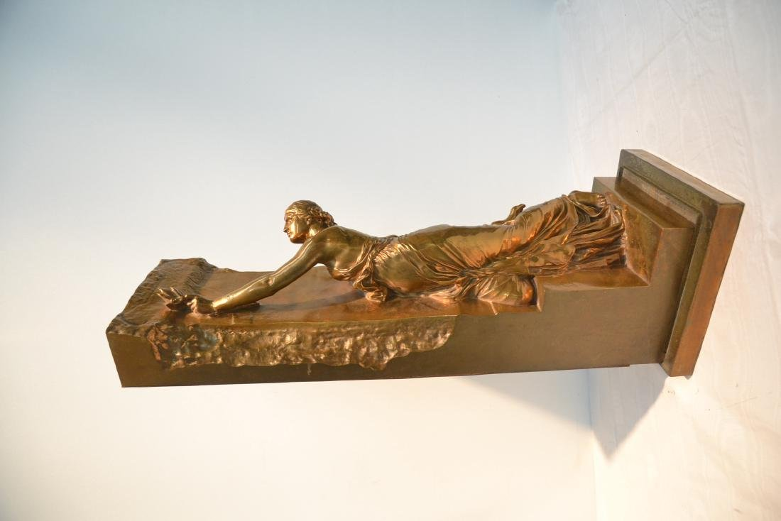 BARBEDIENNE BRONZE WOMAN LEANING ON WALL - 5