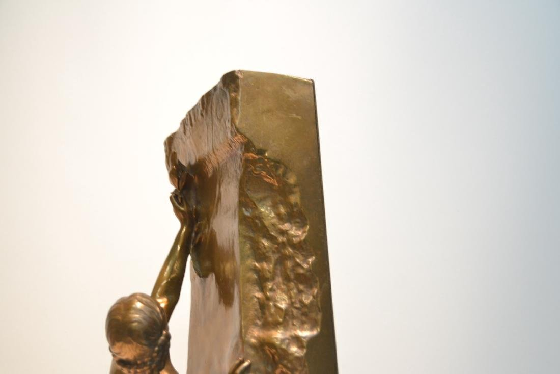 BARBEDIENNE BRONZE WOMAN LEANING ON WALL - 9
