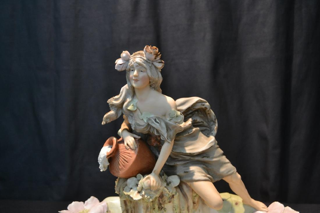 ROYAL DUX GIRL WITH WATER JUG OVER SHELL - 2