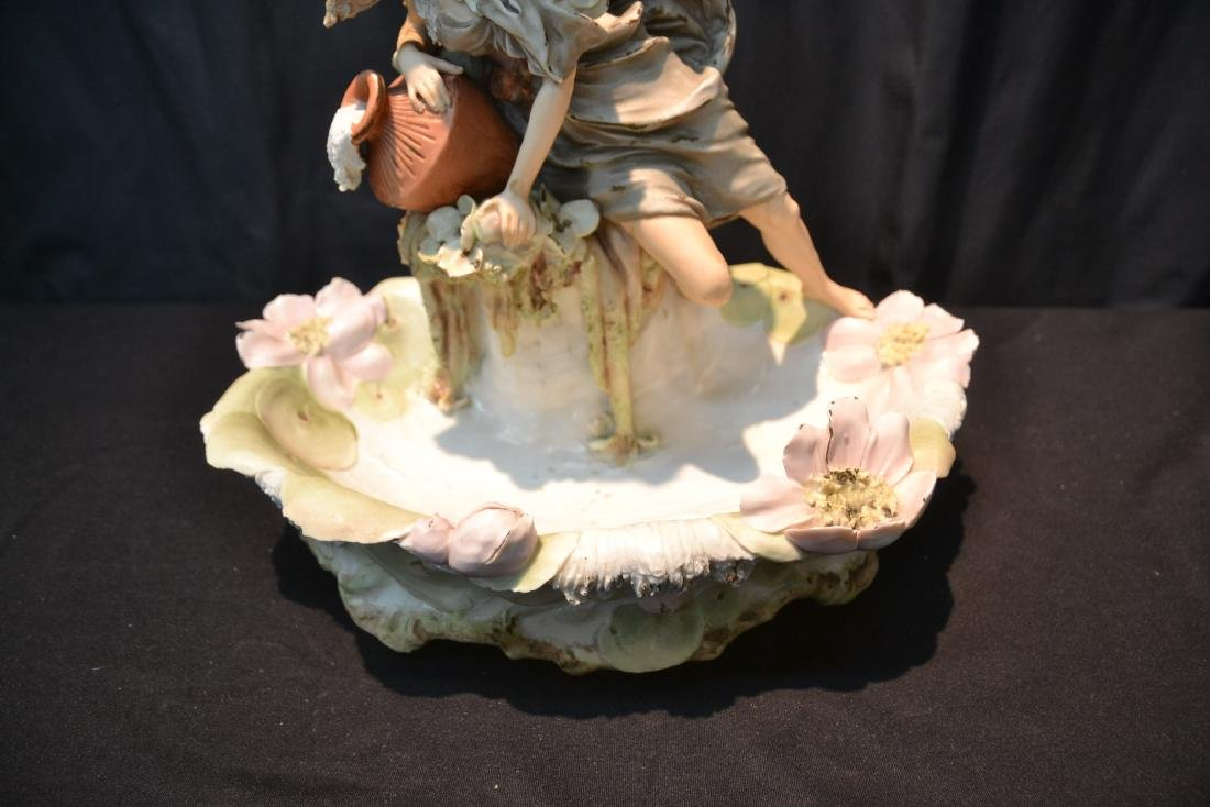 ROYAL DUX GIRL WITH WATER JUG OVER SHELL - 3