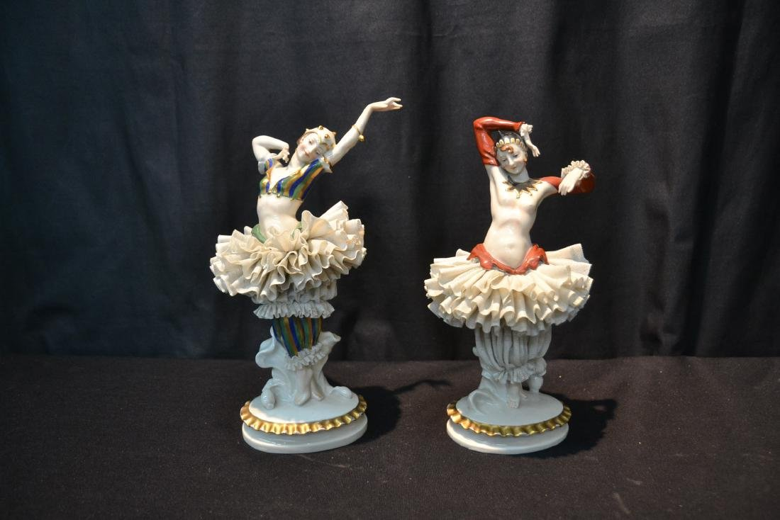 (Pr) FRENCH CAPODIMONTE DANCERS WITH - 10