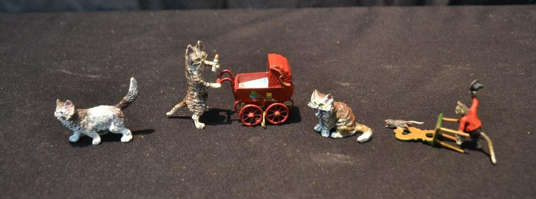 ASSORTED COLD PAINTED BRONZE MINIATURES